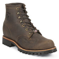 "Chippewa Men's 6"" Unlined Vibram Lug Sole Work Boot"