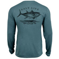Salt Life Men's Get Lured In Performance Pocket Long-Sleeve T-Shirt