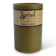 Spiral Light Large Candle - Vintage Wood
