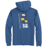 Southern Tide Men's Point Lobos Flags Long-Sleeve Hoodie Shirt