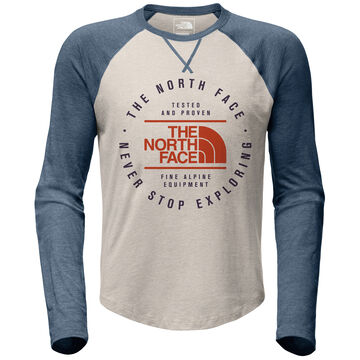 The North Face Mens Double Bar Raglan Long-Sleeve T-Shirt