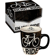 Carson Home Accents Enjoy The Ride Boxed Bicycle Mug