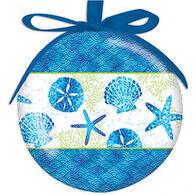 Cape Shore Beach Batik Ball Ornament