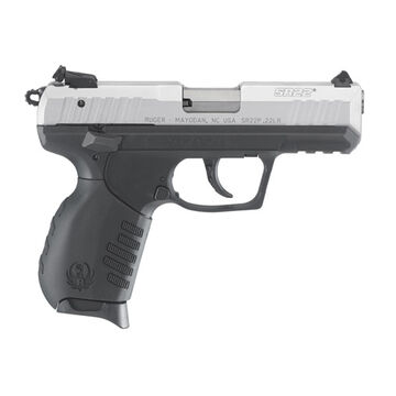 Ruger SR22 Black Polymer / Silver Anodized 22 LR 3.5 10-Round Pistol