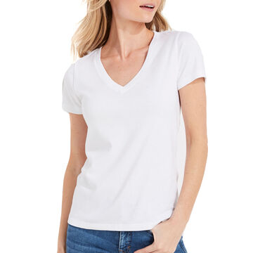 Vineyard Vines Womens Simple V-Neck Short-Sleeve T-Shirt