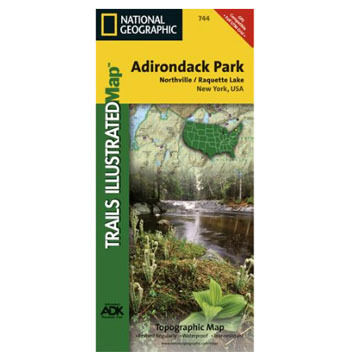 National Geographic Northville, Raquette Lake Trails Illustrated Map