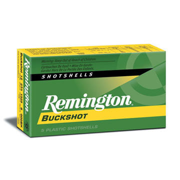 "Remington Express 12 GA 2-3/4"" #000 Buck 8 Pellet Buckshot Ammo (5)"