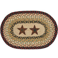 Capitol Earth Oval Barn Star Swatch Braided Rug