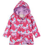 Hatley Girl's Decorative Butterflies Raincoat