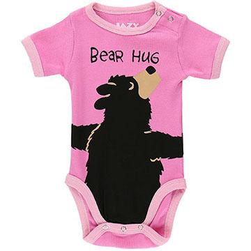 Lazy One Infant Girls Bear Hug Creeper