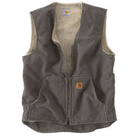 Carhartt Men's Sandstone Rugged Sherpa-Lined Vest