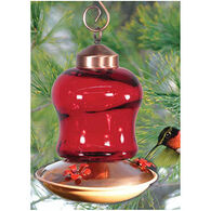 Audubon Ruby Glass Hummingbird Feeder