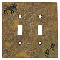 Big Sky Carvers Moose & Tracks Double Switch Plate Cover