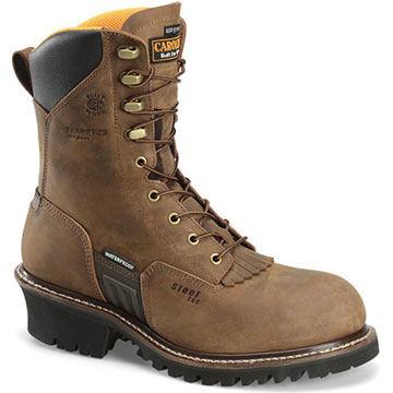 Carolina Mens 8 Waterproof Insulated Steel Toe Logger Work Boot, 400g