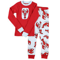 Lazy One Toddler Boy's Lobster PJ Set