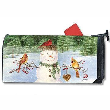 MailWraps Snowman Birdfeeder Mailbox Cover