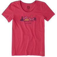 Life is Good Women's Tent Crusher Scoop Neck Short-Sleeve T-Shirt