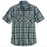 Carhartt Men's Big & Tall Rugged Flex Relaxed Fit Flannel Snap Front Plaid Short-Sleeve Shirt