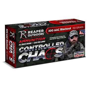 Reaper Outdoors Controlled Chaos 300 Blackout 110 Grain Rifle Ammo (20)