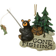 Big Sky Carvers Gone Fishing Bear Ornament