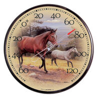 "AcuRite 12.5"" Galloping Horses Thermometer"