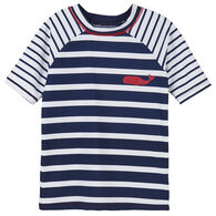 Hatley Boy's Nautical Stripes Short-Sleeve Rashguard
