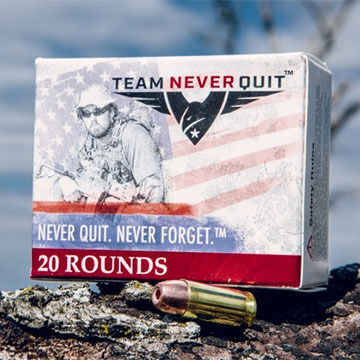 Team Never Quit 40 S&W 125 Grain Frangible HP Reduced Ricochet Handgun Ammo (20)