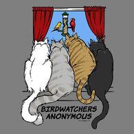 Earth Sun Moon Trading Women's Birdwatchers' Anonymous Short-Sleeve T-Shirt