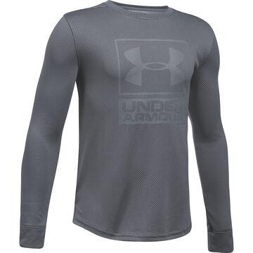 Under Armour Boys Tech Textured Long-Sleeve Shirt