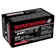Winchester Varmint HE 22 Winchester Mag 34 Grain JHP Ammo (50)