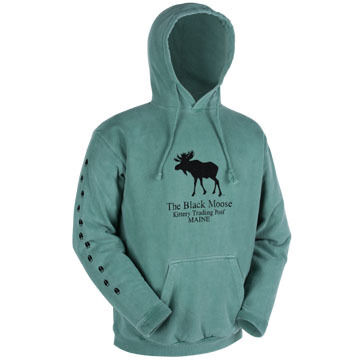 "Original Design Men's ""Black Moose"" Hooded Sweatshirt"