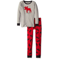 Hatley Boys' Moose PJ Set
