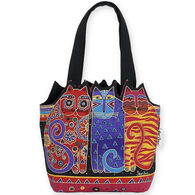 Sun N Sand Women's Feline Friends Cut Out Medium Shoulder Tote Bag