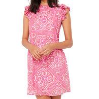 Vineyard Vines Women's Island Scarf Print Ruffle Dress