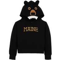 Wild Child Hoodies Boys' & Girls' Black Bear Hooded Sweatshirt
