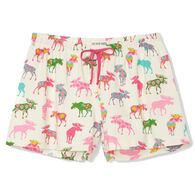 Hatley Little Blue House Women's Patterned Moose Sleep Short