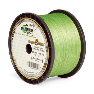 PowerPro Super 8 Slick Braided Saltwater Fishing Line - 300 Yards