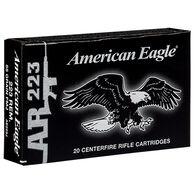 American Eagle 223 Remington 55 Grain FMJ BT Rifle Ammo (20)