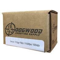 Dogwood Shooting Supply 9mm 115 Grain FMJ Handgun Ammo (100)