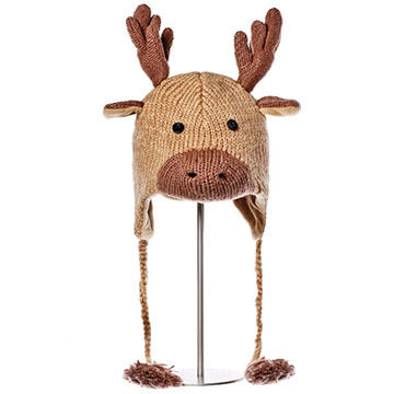 Knitwits Boys & Girls Manny The Moose Animal Hat