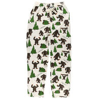 Lazy One Men's I Believe Bigfoot Pajama Pant