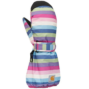 Carhartt Toddler Girls Stripe Mitt