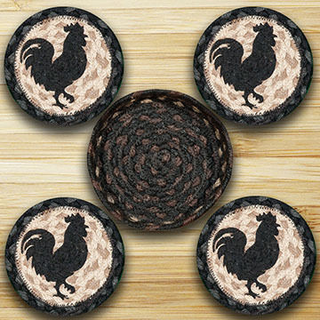 Capitol Earth Rooster Silhouette Coaster Set