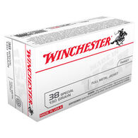Winchester USA 38 Special 130 Grain FMJ Handgun Ammo (50)