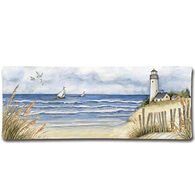 Keller Charles By The Sea Ribbed Rectangular Platter