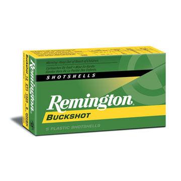 "Remington Express 12 GA 2-3/4"" #00 Buck 9 Pellet Buckshot Ammo (5)"
