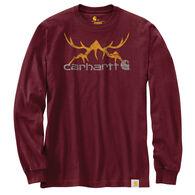 Carhartt Men's Big & Tall Original Fit Heavyweight Hunt Graphic Long-Sleeve T-Shirt