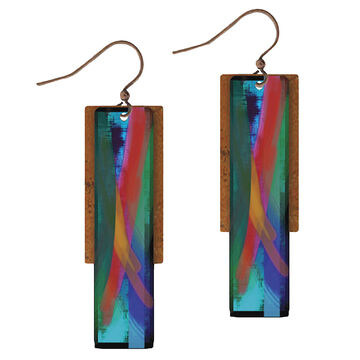 Illustrated Lights Womens DC Designs Double Rectangle Earring