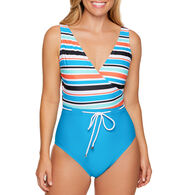 Sol Collective Women's Striped One Piece Swimsuit