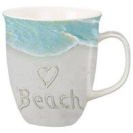 Cape Shore Maine Heart Beach Harbor Mug